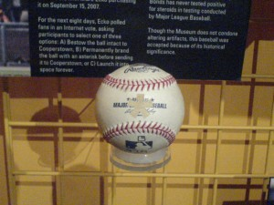 Barry Bonds' Record Breaking Baseball